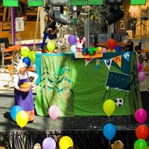 """Кукольный спектакль """"Веселая семейка"""" на детском празднике в ТРК """"Гулливер"""""""